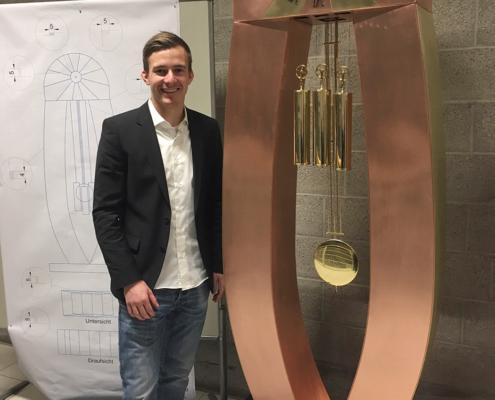 Christian Schenk mit seiner Meisterarbeit