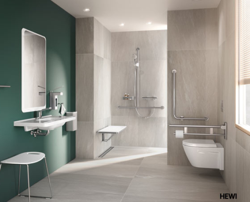 Barrierefreies-Bad, Bodenebene-Dusche, Dusch-WCs